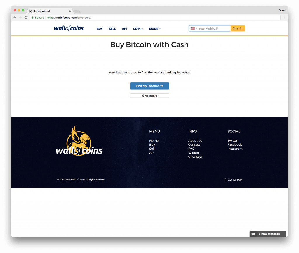 Wall of Coins buy bitcoins with bank transfer