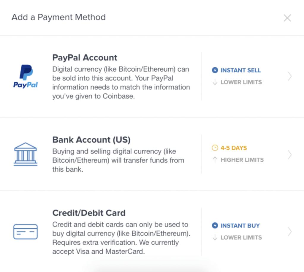 Bitcoin payment ways