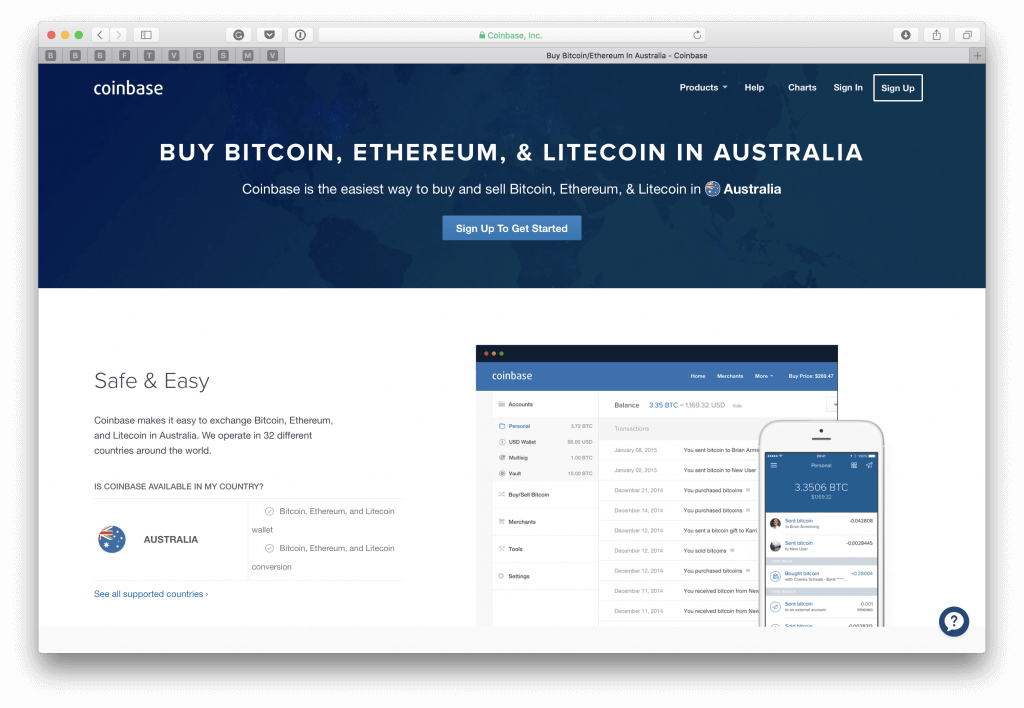 Order BTC in Australia